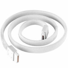 Silverstone CP07W 180 to 180 Deg 500mm  6Gb/s SATA III  White Sleeved Cable
