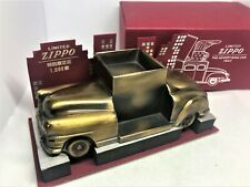 Rare! ZIPPO Limited Edition Ad-Car Car Lighter Stand Ashtray Brass Decoration