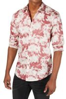 INC Mens Astor Shirt Dusty Red Pink Size 2XL Abstract Floral Button Down $65 089