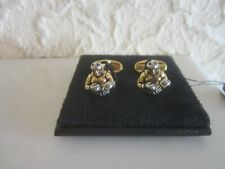 Paul Smith 'Boxer' Gold And Silver Toned Cufflinks