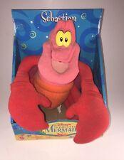 "Sebastian Disney's The Little Mermaid  10"" Plush Toy Mattel NEW IN BOX- Vintage"