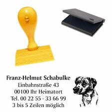 Adressenstempel « RHODESIAN RIDGEBACK 1 » mit Kissen - Hundeschule