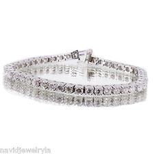 8.77 T.C.W Tennis Bracelet Diamond 14k White Gold All Natural Certified