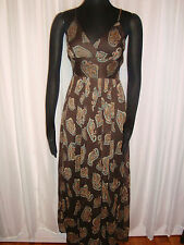 Brown Paisley Sundress--New