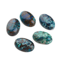 10pc Natural Chrysocolla Cabochon Oval Jewelry Finding Gemstone Flat Back Crafts