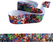 """Marvel Heroes Ribbon 1"""" Wide For Cakes, Crafts, Gift Wrap, Etc. 2m"""