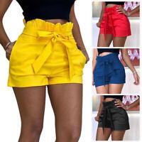 Women Summer Pants Stylish Shorts Belt Beach High Waist Short Trousers Hot Pants