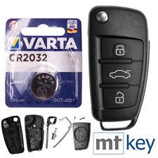 Klapp Schlüssel Gehäuse für Audi A1 8X A3 8P 8V A4 B7 A6 C6 TT 8J Q3 8U Q7 4L R8