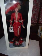 Franklin Mint MARILYN MONROE Gentlemen Prefer Blondes RED Portrait Doll NRFB NEW