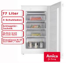 Amica Einbau Gefrierschrank 77l Schlepptür-Technik 4 Schubladen EGS 16163