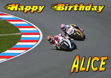Motorbike Race Motorcycle Bike Sport Happy Birthday Greetings Card Personalised