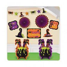 10 Piezas De Bruja Y Arañas Halloween Fiesta Kit-Halloween Decoración De Habitación