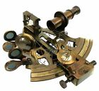 Beautiful Mirror Brass Working Marine Sextant Collectible Vintage Nautical Ship
