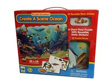 FLOOR PUZZLE Jigsaw Create A Scene Ocean Giant Floor Reusable Static Stickers