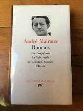 André Malraux- Romans-  Pléiade  - N° 70- Comme neuf - 1982
