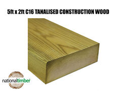 5x2 C16 Tanalised Timber Structural Graded Studwork Various Sizes