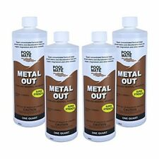 Pool Mate 1-2550-04 Metal Out Stain and Mineral Inhibitor for Swimming Pools,1-Q