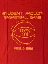 Nos Juan M Campos I.S. 71 juego de baloncesto de los estudiantes profesores 86 Camiseta ROJO L/XL