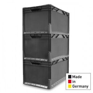 3x Eurobehälter Eurobox 60x40x32 Staplebox Lagerbox Kunststoffkasten 600x400x320