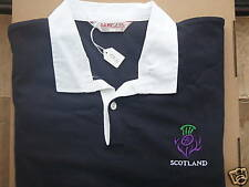 SCOTLAND SCOTTISH SCOTS  RUGBY SHIRT WITH THISTLE (MED)