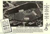 Crosley Field Cinncinnati Reds Baseball National League Vintage Sports Photo