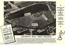 Crosley Field Cinncinnati Reds Baseball National League Vintage Sports Photo