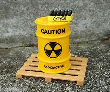 Danbury Mint Coke Case w Toxic Waste Drum Miniature (Y) & Pallet 1/24 Scale Item