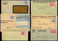 GERMANY SUDETENLAND CZECHOSLOVAKIA 1939 CENSORS + PRINTED ENVS + PMKS...7 ITEMS