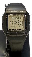 CASIO Multi Lingual DataBank Watch Black Resin   Illuminator DB36-1 5 Alarms