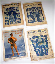 4 x SANDOW'S MAGAZINE OF PHYSICAL CULTURE 1906 original copies COOL SPORT STUFF