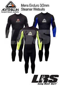 NEW Adrenalin Mens Steamer Wetsuit Long Sleeve & Leg 3mm/2mm Neoprene Wet Suit