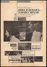 HIGH AND LOW__Original 1963 Trade AD promo_poster__AKIRA KUROSAWA_TOSHIRO MIFUNE