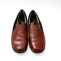 Merrell Brown full grain Leather Slip-On Loafers Shoes Air Cushioned Men US 10.5