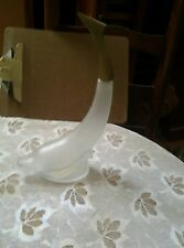 Vintage Avon 1968-69 Dolphin Frosted Glass With Gold Tail Cap Decanter 8 Oz
