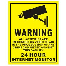 10Pcs Home CCTV Surveillance Security Camera Video Sticker Warning Decal SignsSA