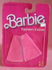 "BARBIE FASHION EXTRAS - PINK ""SUEDE"" SKIRT  #9871 - 1984"