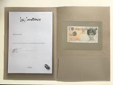 Banksy Di-faced Tenner - signed Steve Lazarides COA letter - Original Lithograph