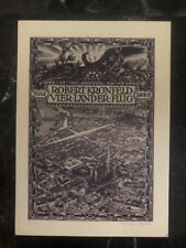 1933 Vienna Austria Postcard Airmail Cover WIPA Congress Four Countries Flight