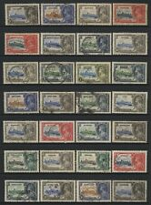 British Commonwealth 1935 KGV Silver Jubilee 28 Stamps Used