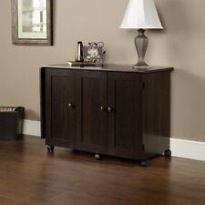 Table Sewing Machine Storage Craft Cabinet Folding Shelves Bins Drop Leaf Sew NE