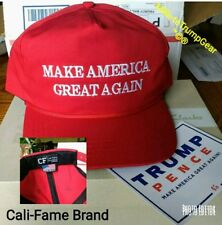 AUTHENTIC original Cali Fame Donald Trump make America great again MAGA cap hat