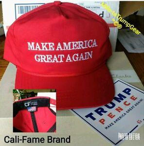 RARE Original Cali Fame Donald Trump Make America Great Again MAGA cap hat