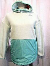 THE NORTH FACE GIRL'S MINT GREEN RIIT FLEECE PULLOVER W HOODIE SZ XL NWT RET $70