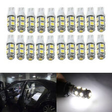 20Pcs Super White T10 Wedge 9-SMD 5050 LED Light bulbs W5W 2825 158 192 168 194