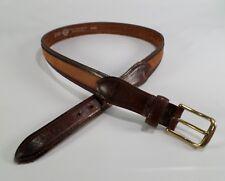 Dockers Leather Belt Full Grain Cowhide Brass Buckle 2368 Distressed Brown 34