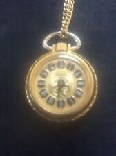 Vintage Veranda Wind Up Ladies Pendant Pocket Watch 17 Jewels SWISS MADE - Runs