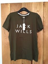 Mens Boys Jack Wills T Shirt Westmore Stack Olive Army Green Medim M NEW