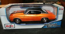 Maisto 1:18 Scale 1971 Chevrolet Chevelle SS454 Sport Coupe Orange - Special NIB