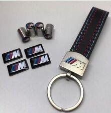 Set BMW M Power Logo Schlüsselanhänger + 4 Ventilkappen + 4 Aufkleber NEU