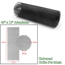 Vehicle Car SUV 40''x13'' Black Universal Aluminum Grille Net Mesh Grill Section